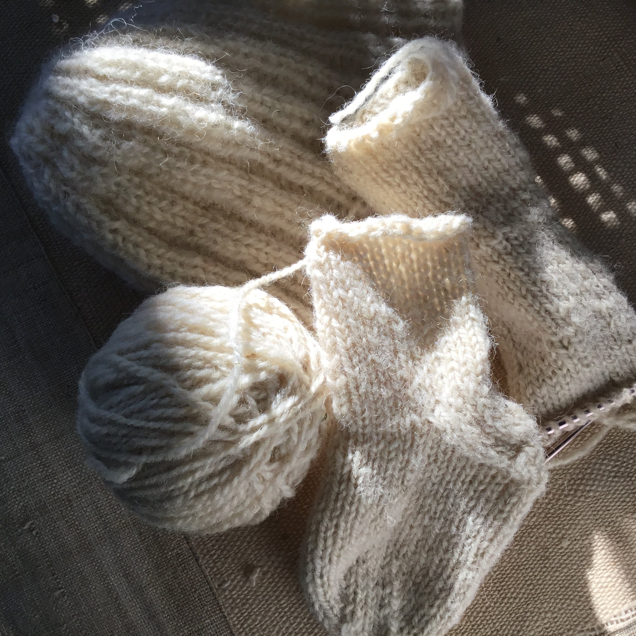 Custom Spun Natural Yarn