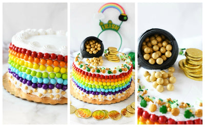 Pot o' Gold Rainbow Cake