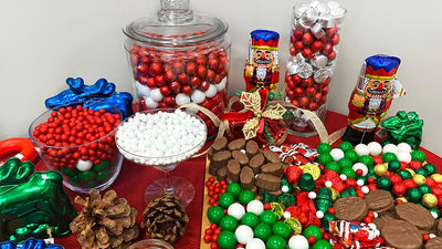 A Very Merry Holiday Candy Buffet
