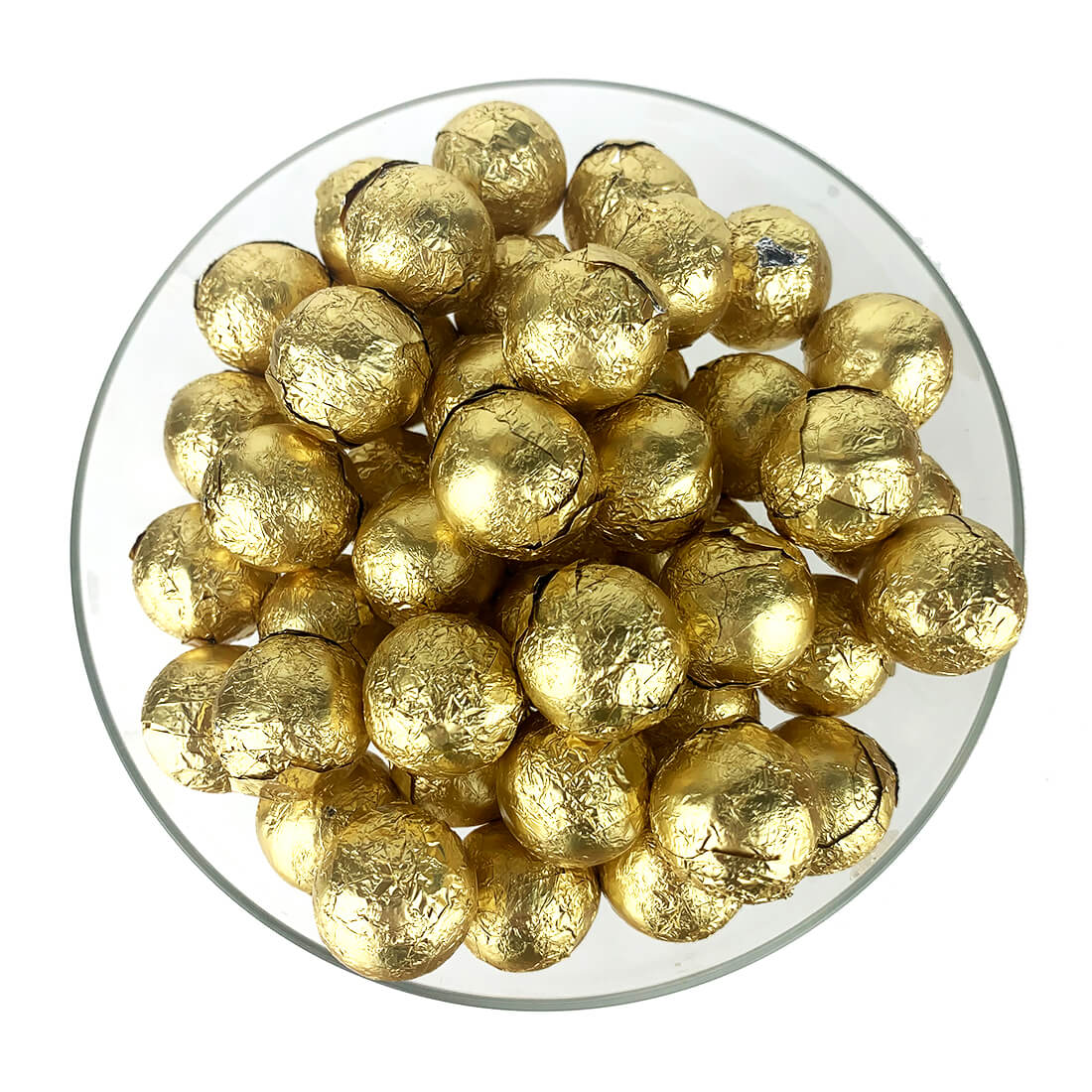 Gold Foiled Wrapped Chocolate Balls 2 lb Bag