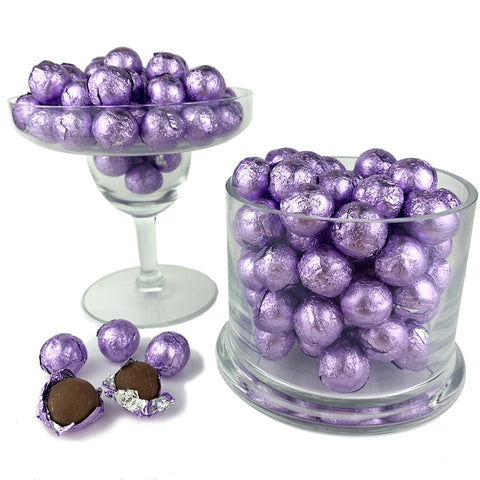 Lavender Foiled Wrapped Chocolate Balls 2 lb Bag