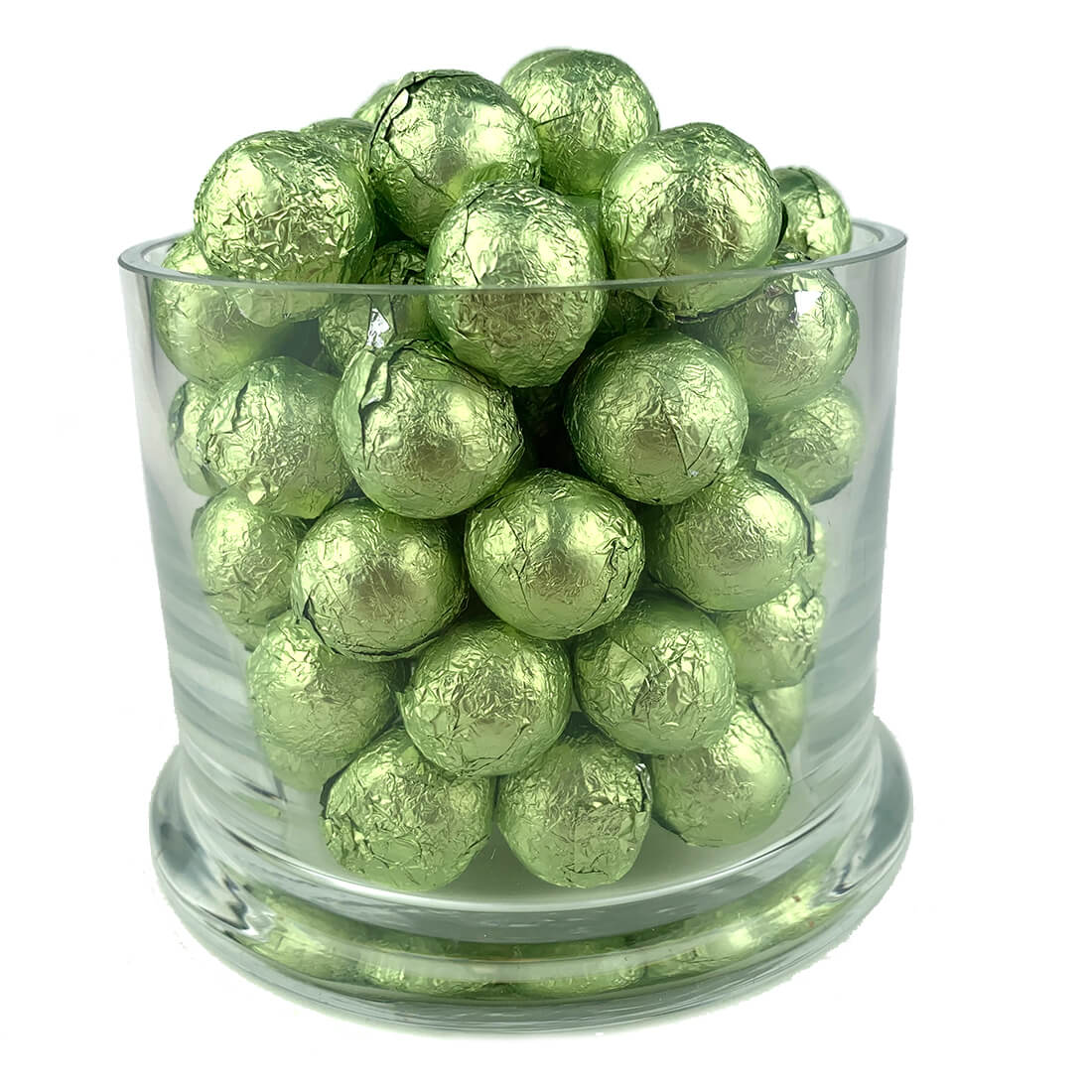 Leaf Green Foiled Wrapped Chocolate Balls 2 lb Bag