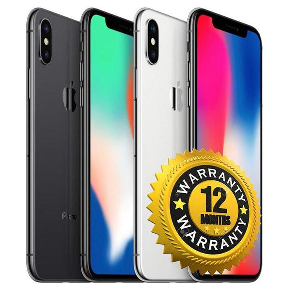 Apple iPhone X - Black - 64GB - UNLOCKED - Grade C
