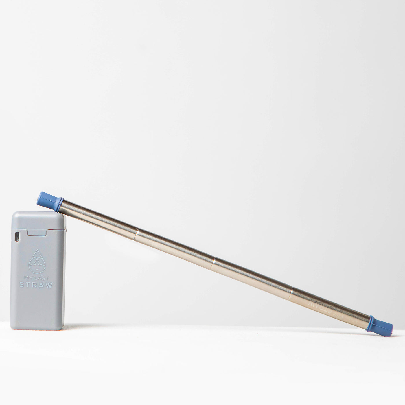 Grey Case Portable Collapsible Reusable Straw - My Last Straw