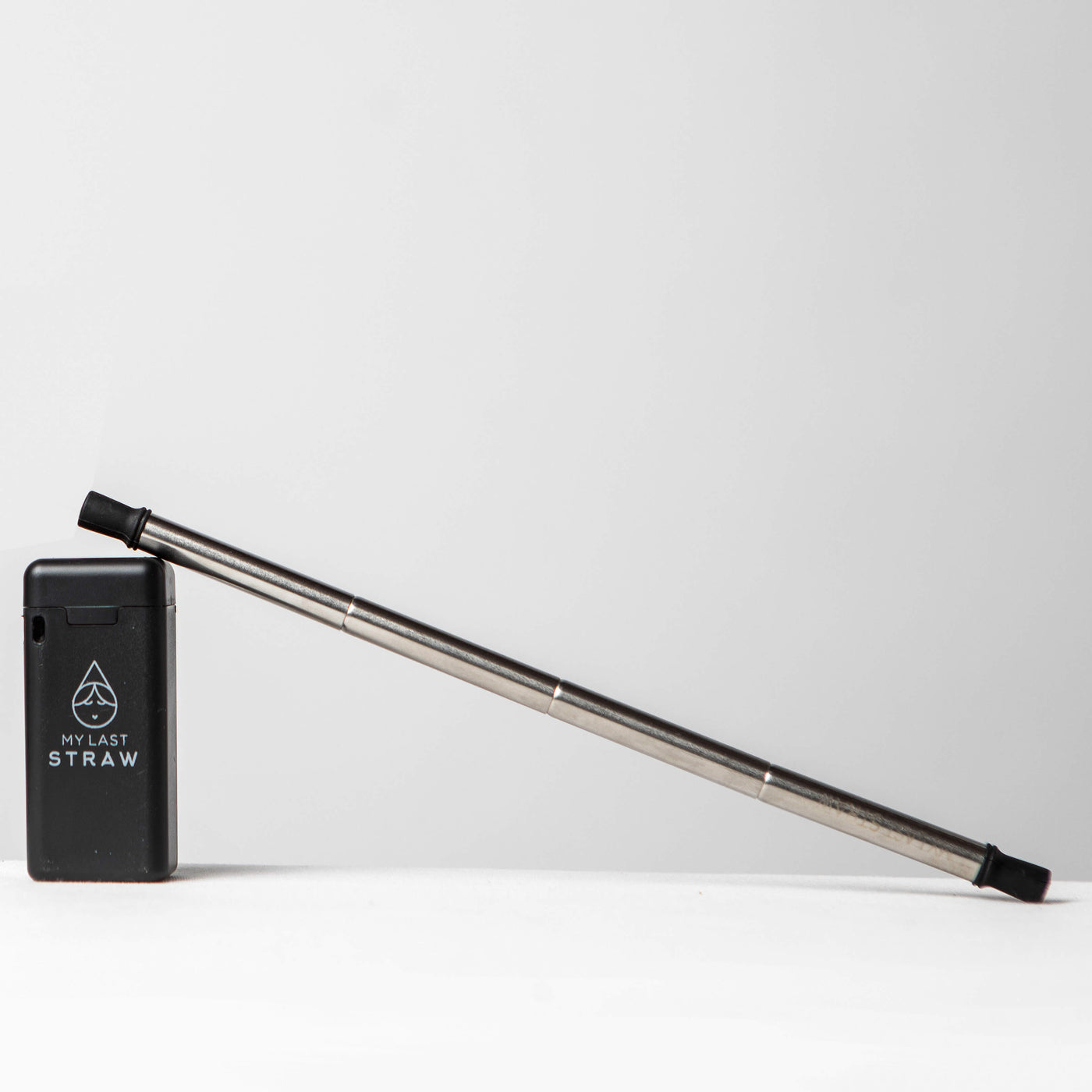 Black Case Portable Collapsible Reusable Straw - My Last Straw