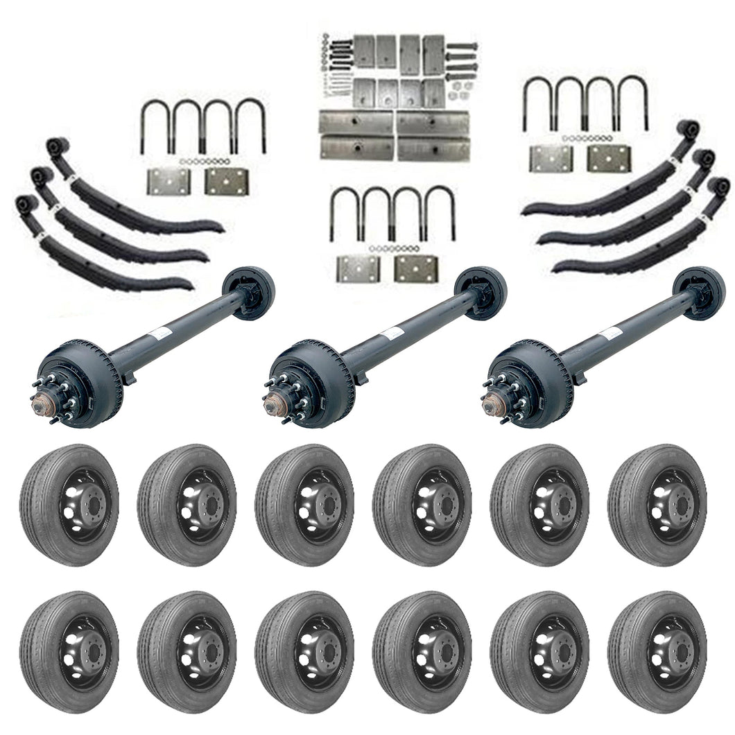 10k Triple Axle Trailer kit - 30000 lb Capacity (Midnight Series)