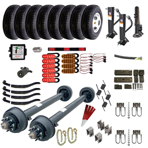 10,000 lb TK Tandem Axle Gooseneck Trailer Parts Kit - 20K Capacity HD (Complete Original Series)
