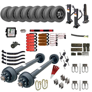 10,000 lb TK Tandem Axle Gooseneck Trailer Parts Kit - 20K Capacity HD (Complete Midnight Series)