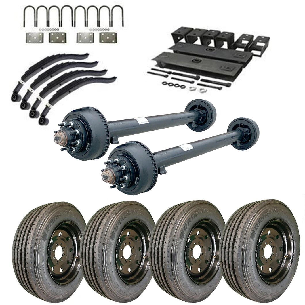 10k Tandem Axle TK Trailer kit - 20000 lb Capacity - Super Single (Midnight Series)