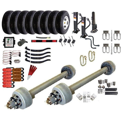 12000 lb Tandem Axle Gooseneck TK Trailer Kit - 24K Capacity HD - (Complete Original Series)