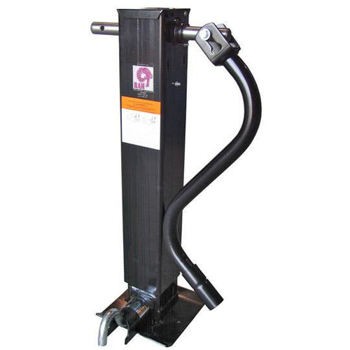 Drop Leg 12k Trailer Jack - 12000 lb Front Pin Side Wind