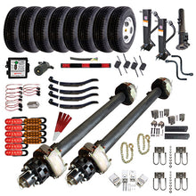 12,000 lb TK Tandem Axle Complete Gooseneck Hydraulic Trailer Parts Kit - 24K Capacity HD