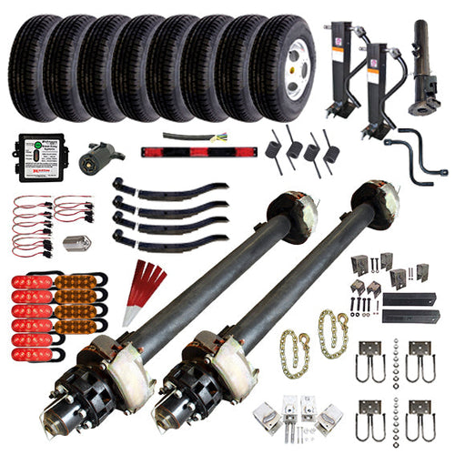 12000 lb Tandem Axle Gooseneck Hydraulic TK Trailer Kit - 24K Capacity HD - (Complete Original Series)