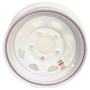 "13"" White Mod 5x4.5 Trailer Wheel"