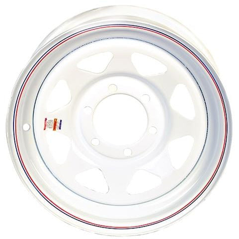 16 Inch White Spoke Trailer wheel-6 Lug