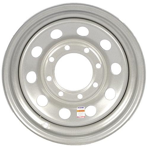 16 Inch Silver Mod Trailer Wheel- 8 Lug