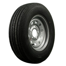 "Trailfinder 13"" 6 ply Radial Trailer Tire & Wheel - ST 175/80R13 - 5 Lug on 4.5 Lug - (Silver Mod)"