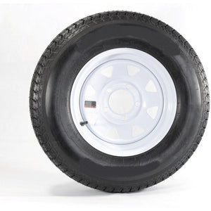 "Goodride 13"" 6 ply Radial Trailer Tire & Wheel - ST 175/80R13 - 5 lug (White Spoke)"