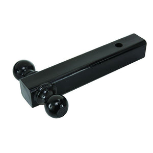 Solid Black Finish Dual Trailer Tow Ball Mount (5K and 10K Capacity) PS-18085