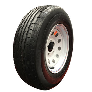 "Goodride 14"" 6 ply Radial Trailer Tire & Wheel - ST 205/75R14 - 5 lug (White Mod)"