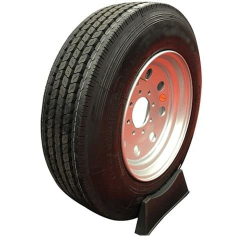 Goodride 175 16 ply Radial Trailer Tire and Wheel ST 21575R175 8 Lug Super Single Silver Solid