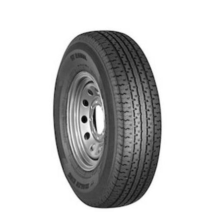 Goodride 15 10 ply Radial Trailer Tire and Wheel ST 22575R15 Silver Mod