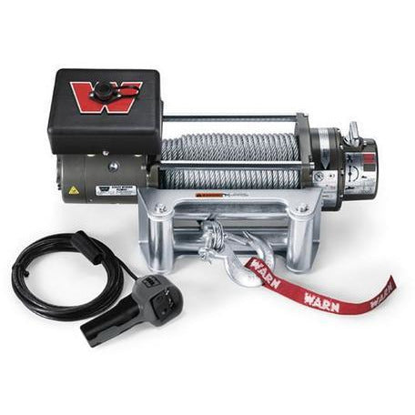 8000lb Warn Winch w Roller Fairlead and Wire Rope