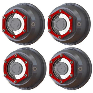 Valcrum HD Aluminum Trailer Oil Hub Cap for 9-16k Axles – ST375 (Pack of 4)