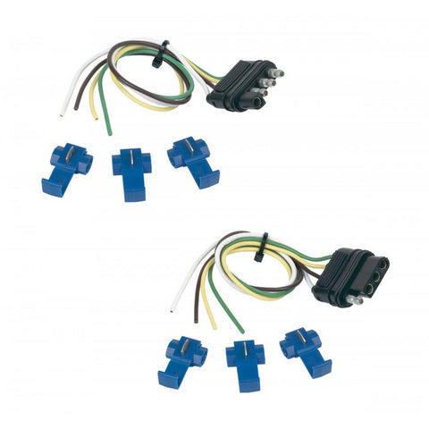 Hopkins 48165 12 Vehicle and 12 Trailer End 4 Wire Flat Set