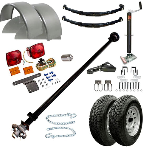 3500 lb TK Single Axle Trailer Parts Kit - 3.5K Capacity (Complete Original Series)
