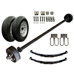 3500 lb Heavy Duty Single Axle TK Trailer Kit - 3.5K Capacity (Original Series)