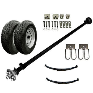 3500 lb Light Duty Single Axle TK Trailer Kit - 3.5K Capacity (Original Series)