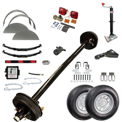 5200 lb TK Single Axle Complete Trailer Parts Kit - 5.2K Capacity HD
