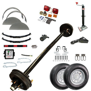 6000 lb TK Single Axle Complete Trailer Parts Kit - 6K Capacity HD