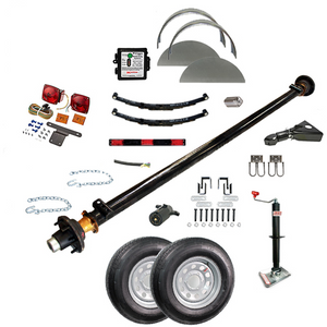 6000 lb TK Single Axle Complete Trailer Parts Kit - 6K Capacity LD