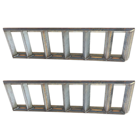 Pair of 2 Angle Iron Steel Loading Ramps 5000 lb Capacity
