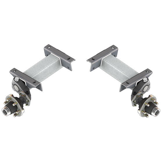 Flexiride 5200 lb Adjustable Torsion Half Axle - (Pair)