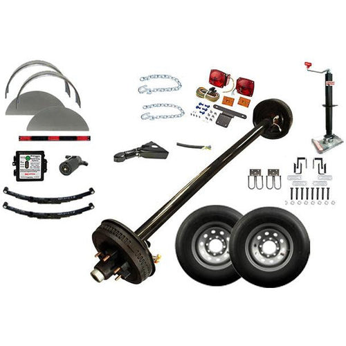 7000 lb TK Single Axle Complete Trailer Parts Kit - 7K Capacity HD