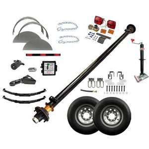 7000 lb TK Single Axle Complete Trailer Parts Kit - 7K Capacity LD