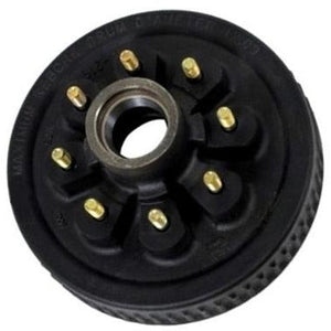 "7k Trailer Axle Hub and Drum - 8 lug x 6.5- 9/16"" Studs"