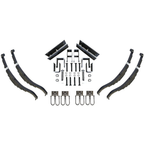 Trailer Slipper Spring Suspension and Tandem Axle Hanger Kit for 3