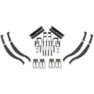 "Trailer Slipper Spring Suspension and Tandem Axle Hanger Kit for 3"" Tubes - 7000 Pound Axles"