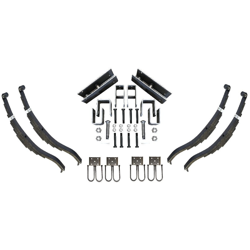 Trailer Slipper Spring Suspension and Tandem Axle Hanger Kit for 3.5