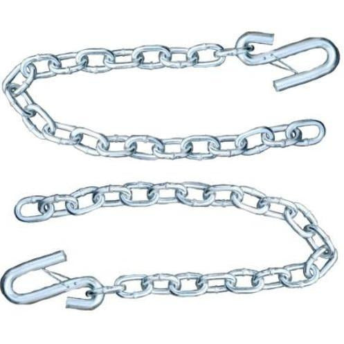 Set of 2) Silver Trailer Safety Chains - 5/16 x 30