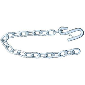 "Silver Trailer Safety Chain - 5/16 x 30"" - Forged (7.6k Capacity)"