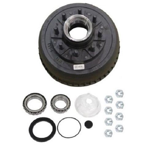 9K General Duty Trailer Axle Hub and Drum Assembly - 8 lug