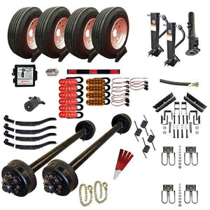 9000 lb TK Tandem Axle Complete Gooseneck Trailer Parts Kit - 18K Capacity HD