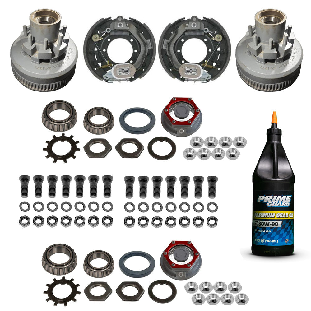 10,000 lb HD Trailer Axle Electric Brake TK Service Kit - 10k Capacity (Valcrum Oil Cap)