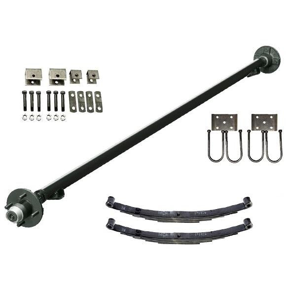 2000 lb TK Single Axle Kit - 2K Capacity (Axle Series)