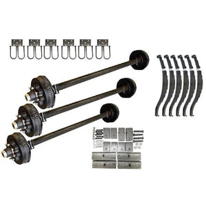 8000 lb DEXTER Triple Axle Kit - 24K Capacity (Axle Series)